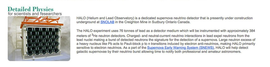 HALO supernova detector
